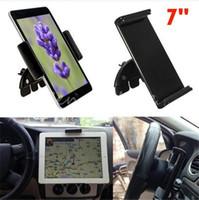 al por mayor ipad ajustable-Mejores precios 7 pulgadas universal ajustable 60-90mm CD de coche de la ranura de montaje móvil Holder soporte para el iPad Mini para Samsung Tablet PC GPS