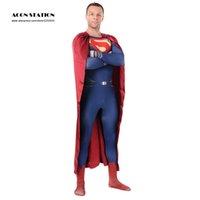 superman lycra - Multicolor Superman Chic Lycra Spandex Zentai