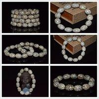 beaded marbles - Marble factory direct Pu Tizi bloodshot Bodhi prayer beads bracelet bracelets gold silver thread Melon Bodhi couple bracelets special gifts