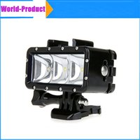 Wholesale Underwater m Waterproof Flash Fill Light High Power Dimmable LED Video POV Night Light For GoPro Hero