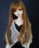 Wholesale New BJD SD DOC DOD LUT Pullip Dal MSD Dollfie Doll Wig Long Straight Brown GA67
