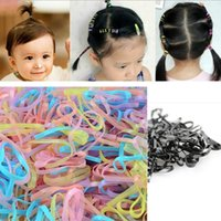 Wholesale 400pcs bag Trendy Rubber Band Women Girls Elastic Hair Band Tie Rope Fashion Hair Accessories Headwear