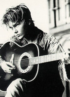 Wholesale 24x36 inch Art Silk Poster RIVER PHOENIX PERSONALITY POSTER SPRAY PAINTING PLAYING GUITAR
