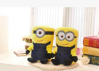 acrylic fabric - Kids Minions Blankets Cartoon Air Conditioning Blankets Despicable Me Nap Blanket Pillow Cushion Office Blankets Plush Toys Dolls B4090