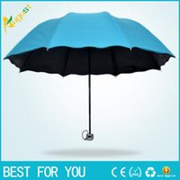 Wholesale New hot Male Female umbrella three Folding Rain Travele light Aluminium color to select Women Men high quality cheap fashion umbrellas