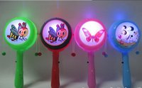 Wholesale whilesale Children s toys infant plastic rattle Bo Langgu cartoon flash light emitting hand drum traditional toys