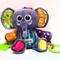 Wholesale Lamaze baby toys plush multifunction elephant bed hanging bells purple color