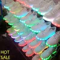 band tnt - LED Shoes Light Up Shoes Luminous Unisex Sneakers Men Women USB Charging Colorful Glowing Leisure Flat Shoes UPS TNT