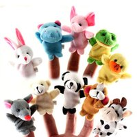 Wholesale In Stock Unisex Toy Finger Puppets Finger Animals Toys Cute Cartoon Children s Toy Stuffed Animals Toys Different Styles Fast Ship