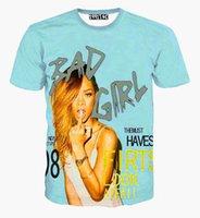 animals north america - tshirt North America Fashion women s T shirt summer tops print famous star Rihanna t shirt girl street t shirt A3