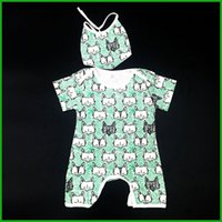 baby playsuits - 2pcs newborn rompers infant baby boys girls fox print playsuits lovely hot selling fashion short sleeve kids bodysuits outfit