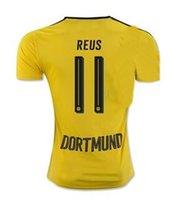 Personalizar la calidad de Tailandia camiseta de fútbol, Dortmund 11 REUS Jersey de Fútbol de 2016 Inicio 23 KAGAWA de fútbol camisa del jersey, 10 M. GOTZE desgaste