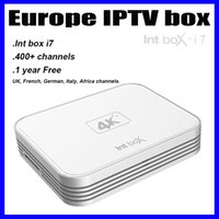 Wholesale DHL delivery Int i7 Box IPTV Europe TV box Android Streaming Media Player year free UK French German Italy sports channels