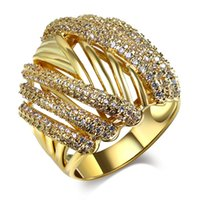 Wholesale 2016 New New Product k Gold and White Gold Plated Jewelry Bijoux zirconia Accessories Rings