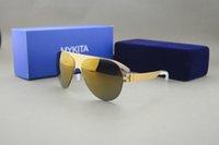 Wholesale New mykita franz Top Quality Sport Sunglasses Brand Designer Germany Brand Sunglasses UNISEX UV400 Metal Sun glasses with original box