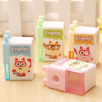 Wholesale Kawaii Pieces Mixed Color Friend Cartoon Pencil sharpener School Stationery Supplies Kids Gift Prize