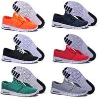 al por mayor tapas netas-Zapatos bajos corrientes baratos de calidad superior de los hombres de las mujeres de los hombres del janoski del stefan del sb del aire calza las zapatillas de deporte