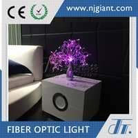 aluminum nickel plating - Led Table Decorative Lamp Bedside Lamp GFT Modern Color Changeable Handmade Decoration Fiber Optic Aluminium Lamp