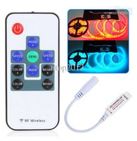 Wholesale 50pcs V Keys Wireless RF Remote RGB LED strip Controller Mini Controller Dimmer for LED Strip and module