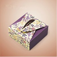 sandwich packaging - Purple Portable gift box Cake Biscuits West Point Moon cake packaged box Quality white cardboard