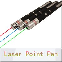 Wholesale 5mW Green Red Blue Laser Pointers High Power Beam For SOS Night Hunting Teaching Xmas Gift OPP Package DHL