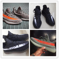 Wholesale New kanye west SPLY Boost Season shoes boost pirate black AQ5831 Man Running Shoes Sneakers Socks Boxes