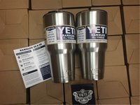 beer water cooler - 304 Stainless Steel YETI Cooler Cups Insulation Rambler Tumbler Cup oz oz ml ml Bilayer Beer Mug Tumblerful Factory Produce