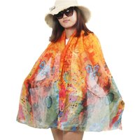bask design - Brand designs Fashion the super Voile scarf printings long scarves for women Prevent bask tourism new Cotton and linen scarf shawls