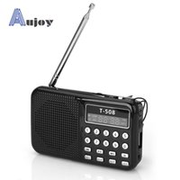 Wholesale Stylish Mini Portable Dual Band Rechargeable Digital LED Display Panel Stereo Fm Radio FM Speaker For SDCard MP3 Music Player