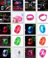 Wholesale New Voice Activated Sound Control Led Flashing Bracelet Bangle Wristband For Night Club Activity Party Bar Music Concert Cheer
