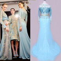 Cheap Sheath/Column Bridal gowns Best Real Photos 2015 Spring Summer long sleeves dresses
