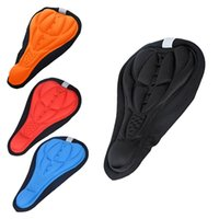 bicycle seats lot - 4 color Cycling Bike Saddles D Comfortable Silicone Gel Seat Cover Cushion Soft Bicycle Pad Mountain Bike Parts Acessories