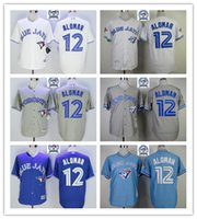 base black - 2016 Majestic Official Cool Base MLB Stitched th Season Toronto Blue Jays Roberto Alomar White BLue Gray Throwback Jerseys Mix Order