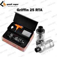 Authentic Geekvape Griffin 25 RTA atomiseur 6.2ml contrôle Vaporisateur Airflow réservoir Geek Vape E Cigs Large Bore Drip Tip Fit Vape Mods