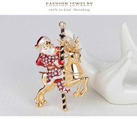 Wholesale Christmas Series Christmas tree Snowman sleigh bells boots penguin Collar pin brooch
