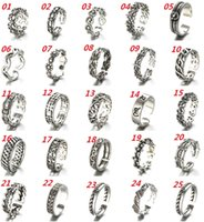 Wholesale Retro Thai Silver Ring Sterling Silver Ring Opening Adjustable Ring Women Fashion Jewelry Cheap Jewelry