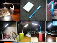 Wholesale mini usb led light colors laptop light or book light connect power bank as light rubber material