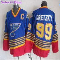 Wholesale 2016 Edmonton Hockey Jerseys Wayne Gretzky Jersey Edmonton Home Blue Road White Authentic Wayne Gretzky Hockey Jerseys C Patch