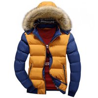 Wholesale Fall winter Mens fashion thicken duck down Jacket coat Men casual Hood warm parka brand wadded jacket