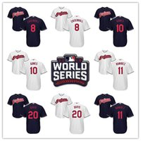 Wholesale 2016 World Series Chisenhall Yan Gomes Jose Ramirez Davis Cleveland Indians Jersey Name and Number All Stitched Logos