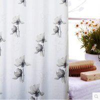 bathroom shower screens - Europe Style Shower Curtains Fashion New Leaves Printed Bathroom Waterproof Fabric Shower Screen with Hooks