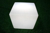 Wholesale Multiple color LED Cube Seat Stool Chair Rechargeable and IP54 waterproof