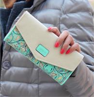 Wholesale 2016 Women Zip PU Leather Clutch Case Lady Long Handbag Wallet Purse Phone Card Case