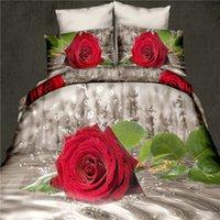 aqua comforter sets - reactive d red rose cot bedding set duvet doona cover bed sheet pillow cases queen size bedclothes aqua