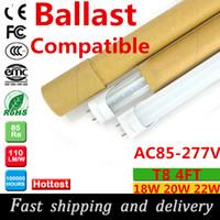 ballast fluorescent lamps - Ballast Compatible T8 LED tube mm ft W W w super bight easy install LED fluorescent tube lamp lights