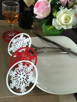Cheap 100pcs Christmas Snowflake Cup Pad Insulation Mat Heat Pad Decoration for new year party table coaster decor