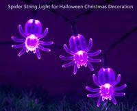 animals windows ce - LED Fairy String Lights M LED AC V V Spider String Light for Halloween Christmas Decoration for Garden Window Tree Party