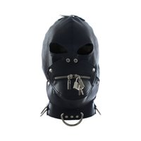 Precio de Juego máscara sexo-Cuero Sexo Zipper Design Máscaras / Capuchas con Lock Key Role Play