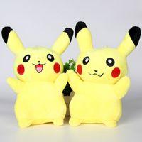 Cheap 8Inch Pikachu Plush dolls 20cm Poke plush toys cartoon poke Stuffed animals toys soft Christmas toys best Gifts