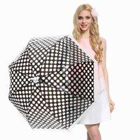 Wholesale Color Polka Dot Transparent Clear Dome Shape Rain Bubble Umbrella Ladies Grils Gifts